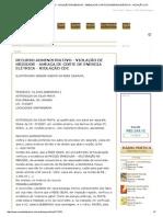 Recurso Administrativo - Violação de Medidor - Ameaça de Corte de Energia Elétrica - Violação Cdc