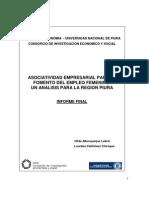 Asociatividad empresarial Para El Fomento Del Empleo Femenino Un Analisis Para La Region Piura
