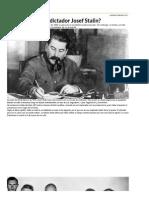 ¿Quién Asesinó Al Dictador Josef Stalin_ _ Josef Stalin, Unión Soviética, Comunismo - América