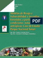 Modelos de Riesgo y Vulnerabilidad a Incendios Forestales