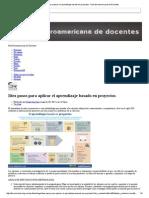 Aprendizaje Basado en Proyectos - Red Iberoamericana de Docentes