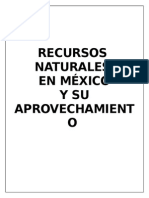 Recursos naturales en México