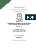 efecto en clima tropical Comportamiento del concreto en climas tropicales para las principales zonas de El Salvador
