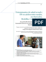 Determinantes de salud sexual e ITS en adolescentes rurales, escolarizados, Medellín, Colombia, 2008