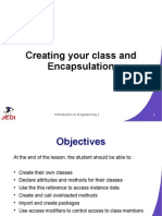 Creating Your Class and Encapsulation