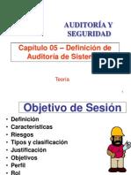 Definicion de Auditoria de Sistemas Informaticos