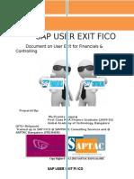 Sap User Exit Fico