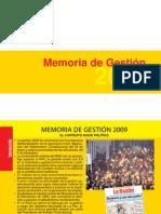 Informe de Gestion 2009