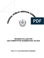 syllabus CSS 2016