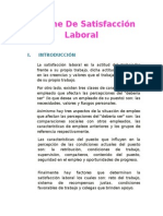Informe de Satisfaccion Laboral