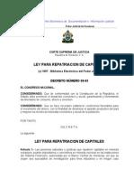 Ley Para Repatriación de Capitales (Actualizada-07)