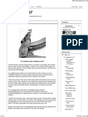 photo about Polish Ak 47 Receiver Template Printable named Establish An AK 47.pdf Firearms Rifle