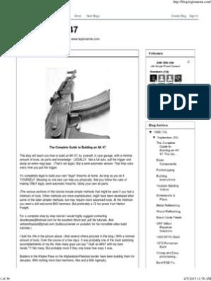 photo about Polish Ak 47 Receiver Template Printable named Establish An AK 47.pdf Firearms Rifle