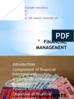 Rishabh Itt Ppt on Financial Mangment