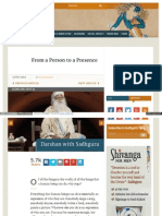 Www Ishafoundation Org Blog Sadhguru Spot From a Person to A