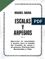 Vol. II Escalas y Arpegios- M. Badia