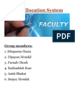 Faculty Allocation System