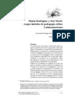Simon Rodriguez y José Martí Reflexiones de Pedagogia Crítica Latinoamericana