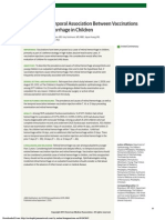 Evaluation of Temporal Association Between Vaccinations and Retinal Hemorrhage in Children