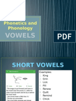 Phonetics and Phonology - Vowels