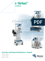 Blease Frontline Sirius Anaesthesia System - Maintenance Manual