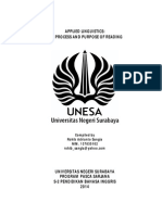 Applied Linguistics - Process and Purpose of Reading
