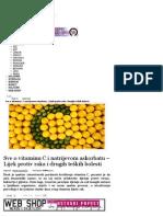 Nexus Svjetlost - Sve o Vitaminu C i Natrijevom Askorbatu – Lijek Protiv Raka i Drugih Teških Bolesti