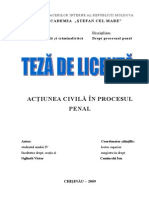 TEZA DE LICENTA ,, actiunea civila-IN PROCESUL PENAL.doc