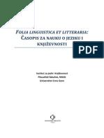 Pesnik i Andjeo, Casopis za nauku o jeziku i knjizevnost