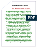 Muhammad Wrote the Qur'an