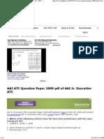 93398579 Aai Atc Question Paper 2009 PDF of Aai Jr