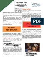 OTHR September 2015 Newsletter