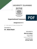 Communication organization 5 preston university