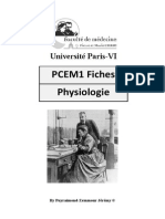 Fiches Physiologie