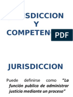 Jurisdiccion y Competencia