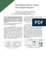 Software Defined Radar Platform Testbed for Micro-Doppler Detection