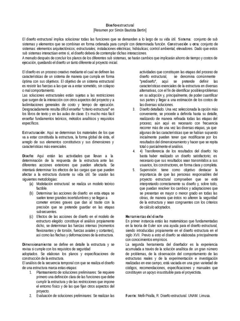 libro de diseño estructural de meli piralla pdf