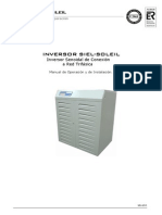 Inversor Siel-soleil a Red Trifásica 7702032 Mu-42-d (Manual Siel)