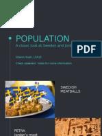 Population Case Study - Sweden and Jordan
