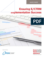 Ensuring E/CTRM Implementation Success