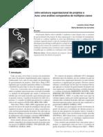 Alinhamento entre estrutura organizacional de projetos e estratégia de manufatura
