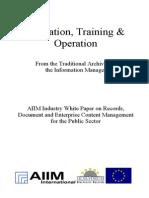 [EN] DLM Forum Industry Whitepaper 06 | Education, Training & Operation | TRW Systems Europe | Wolfgang Sommerer | Hamburg 2002