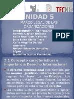 UNIDAD 5 marco legal de las organizaciones