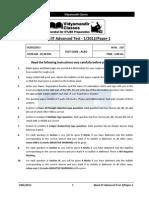 jee advance mock test paper1