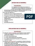 evaluation par le goodwill