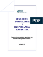 Educación Hospitalaria y Domiciliaria Argentina Año 2010