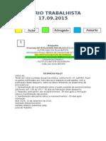 Diário Trabalhista 17.09.2015