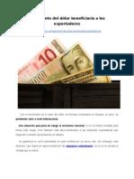 El aumento del dólar beneficiaría a los exportadores