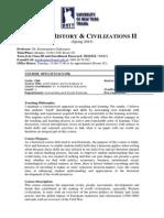 World History & Civilizations II, UoG (Spring 2015)