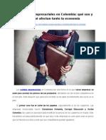 Los carteles empresariales en Colombia